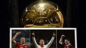 Franck Ribery, Cristiano Ronaldo e Leo Messi